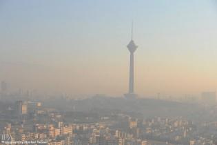 Image result for هوای تهران در وضعیت قرمز