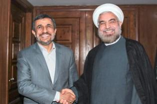نتیجه تصویری برای احمدی نژاد و روحانی