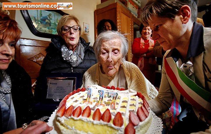 عکس/ جشن تولد پیرزن 117 ساله