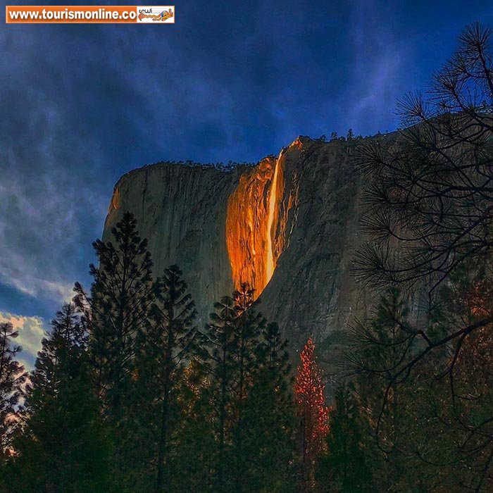 عکس/ آبشار زیبای آتش