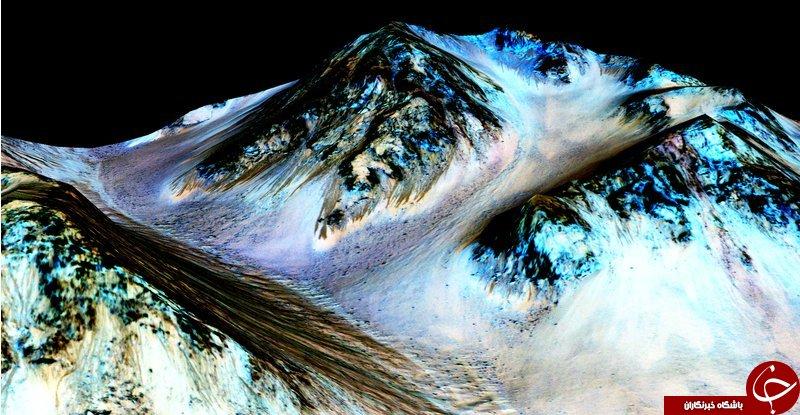 دانشمندان از وجود آب در مریخ خبر دادند + عکس