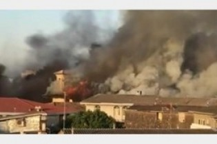 قدیمی ترین مسجد مازنداران در میان شعله های آتش