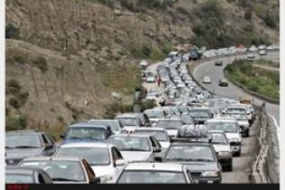 ترافیک پرحجم در محور ایلام_ مهران